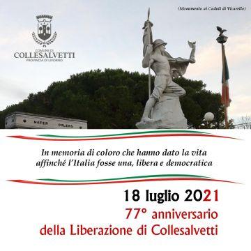 18 luglio 2021. 77° anniversario della Liberazione di Collesalvetti